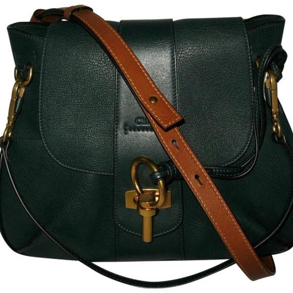 3735dc3adf2 Chloe Bags | Chlo Intense Green Leather Lexa Shoulder Bag | Poshmark